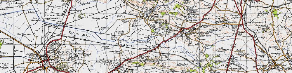Old map of Whitelake in 1946