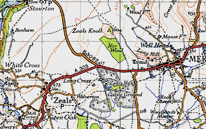 Old map of Zeals Ho in 1945