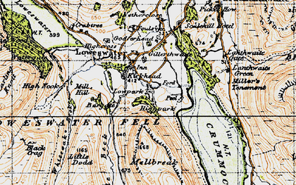 Old map of Loweswater in 1947