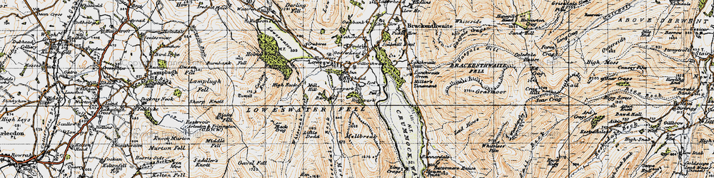 Old map of Whiteoak Beck in 1947