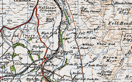 Old map of Linghaw in 1947