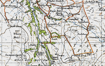 Old map of Aikengill in 1947