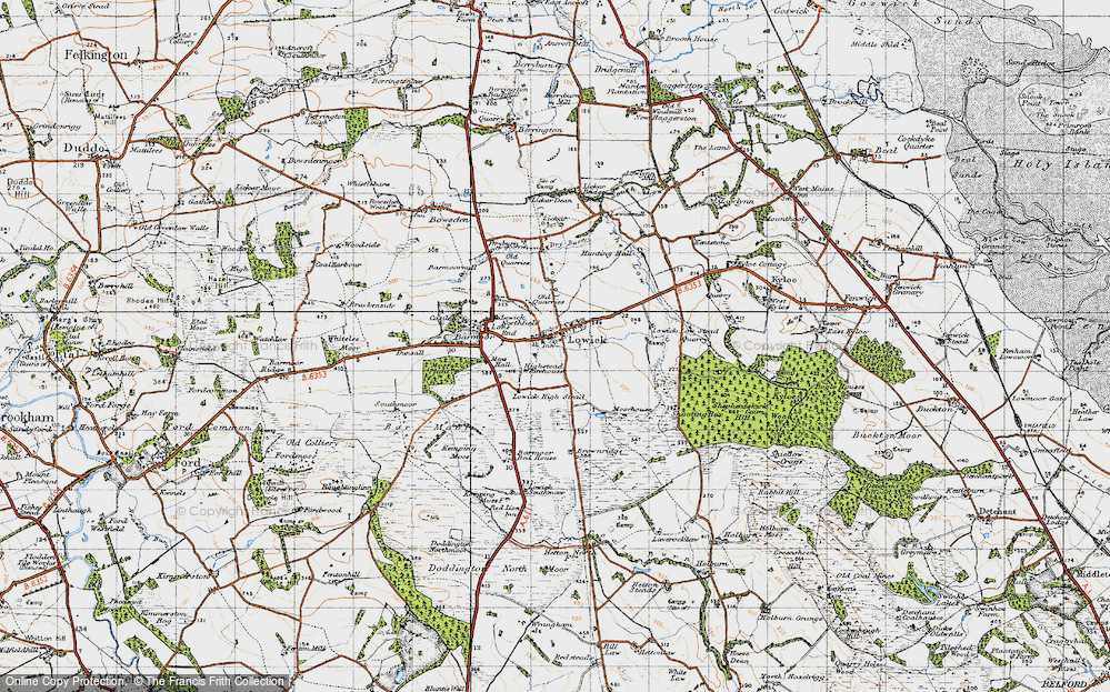 Old Map of Historic Map covering Bar Moor in 1947