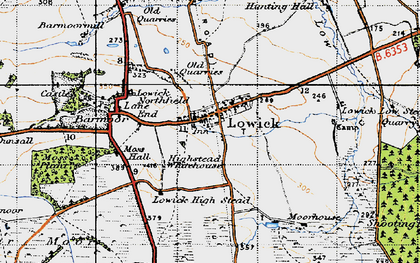 Old map of Bar Moor in 1947