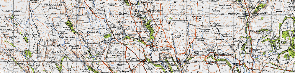 Old map of White Sykes in 1947