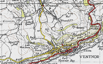 Old map of Lowtherville in 1945