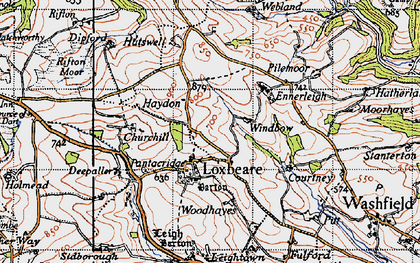Old map of Windbow in 1946