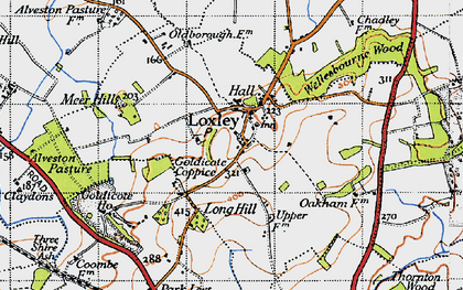 Old map of Alveston Pastures in 1946