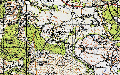 Old map of Luccombe in 1946