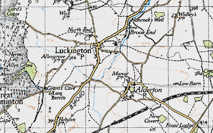 Old map of Luckington in 1946