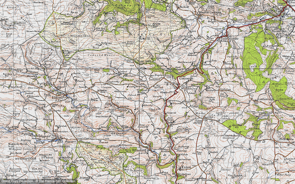 Old Map of Historic Map covering Langham in 1946
