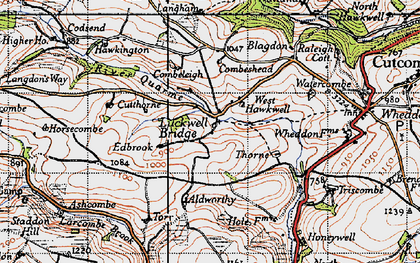 Old map of Larcombe Brook in 1946