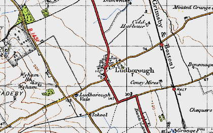 Old map of Wyham in 1946