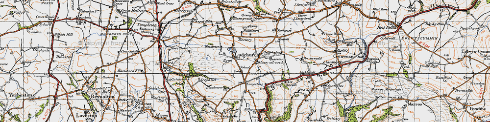Old map of Westerton in 1946