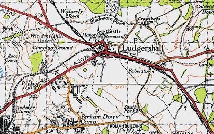 Old map of Widgerly Down in 1940