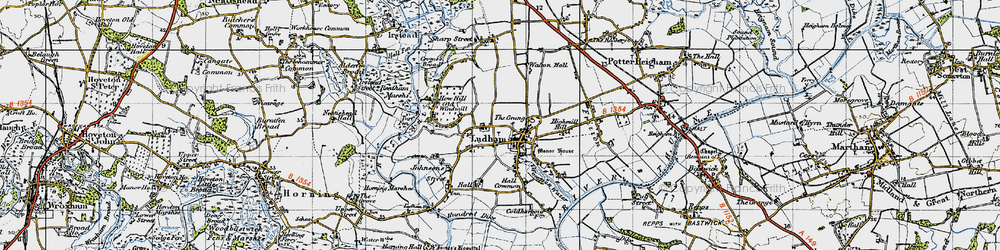 Old map of Ludham in 1945