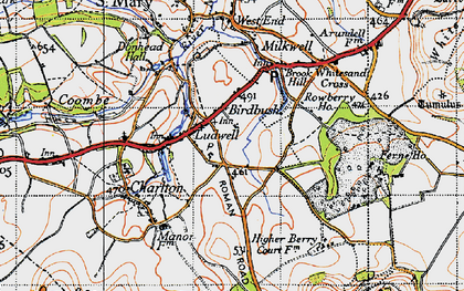 Old map of Ludwell in 1940