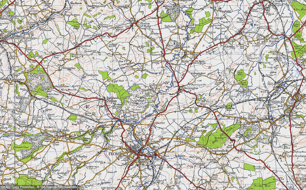 Old Map of Lullington, 1946 in 1946