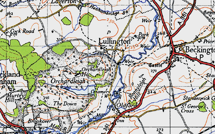 Old map of Lullington in 1946