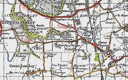 Old map of Lumley Thicks in 1947