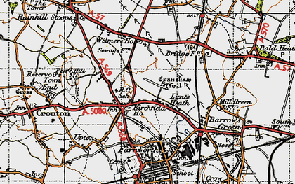 Old map of Wilmere Ho in 1947