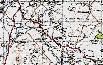 Old map of Badger Gate in 1947