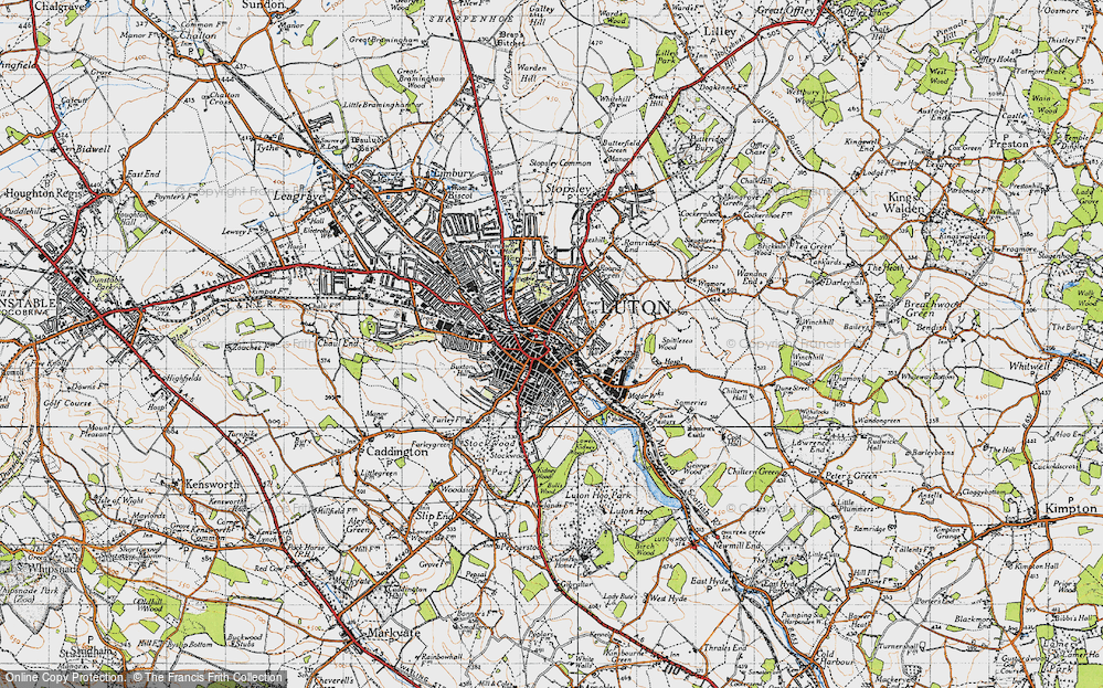 Old Map of Luton, 1946 in 1946
