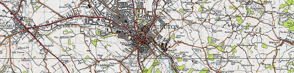 Old map of Luton in 1946