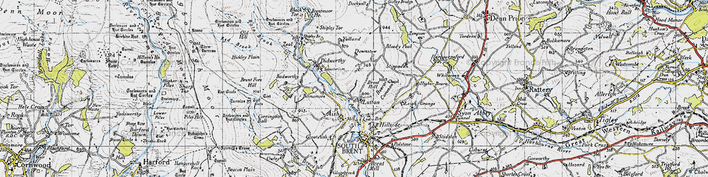 Old map of Yalland in 1946