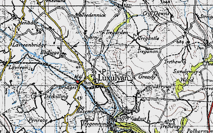 Old map of Luxulyan in 1946