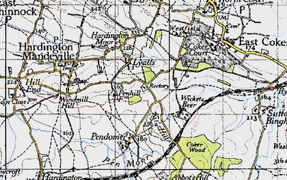 Old map of Wickets Beer in 1945