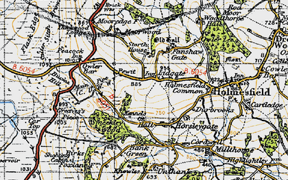 Old map of Lydgate in 1947