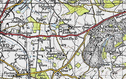 Old map of Avishays in 1945