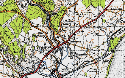 Old map of Lydney in 1946