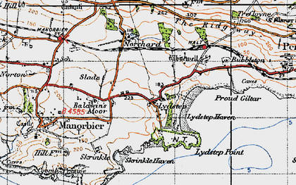Old map of Lydstep in 1946