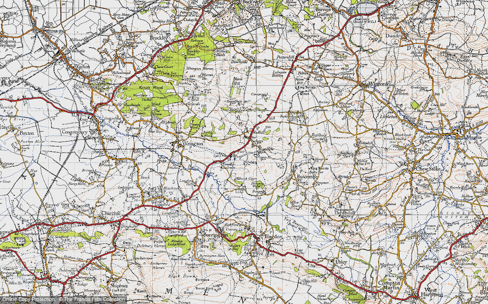 Old Map of Historic Map covering Aldwick Court in 1946