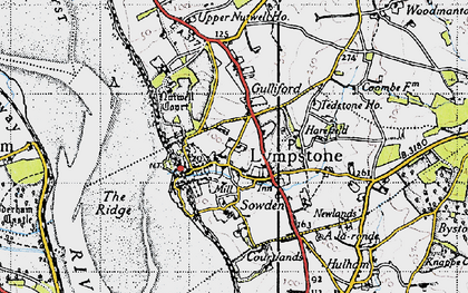 Old map of Lympstone in 1946