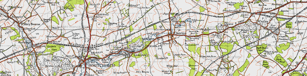 Old map of Laverstoke Ho in 1945