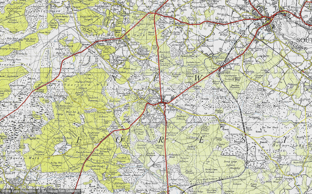 Old Map of Lyndhurst, 1940 in 1940