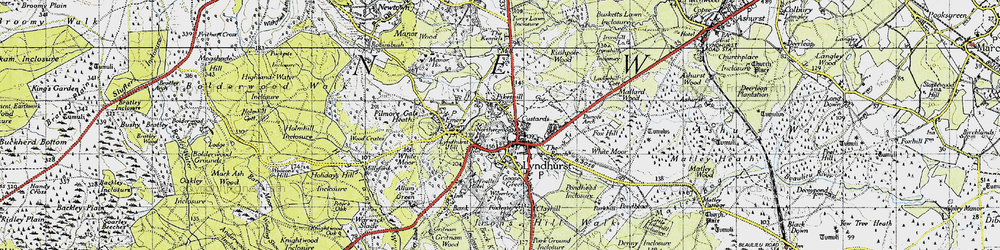Old map of Lyndhurst in 1940