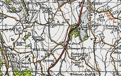 Old map of Awnells in 1947