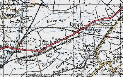 Old map of Bankland Br in 1945