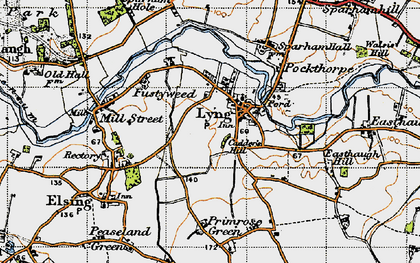 Old map of Lyng in 1946