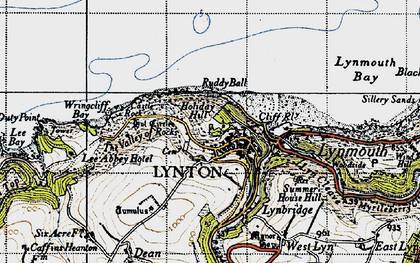 Old map of Wringcliff Bay in 1946