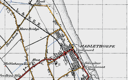 Old map of Mablethorpe in 1946