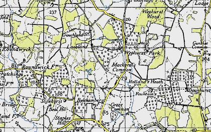Old map of Lanelands in 1940