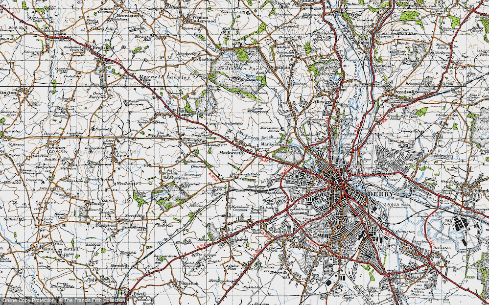 Old Map of Mackworth, 1946 in 1946