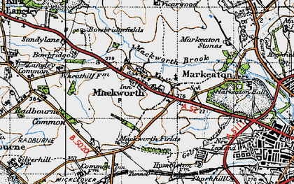 Old map of Mackworth in 1946