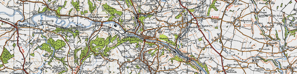 Old map of Madeleywood in 1947