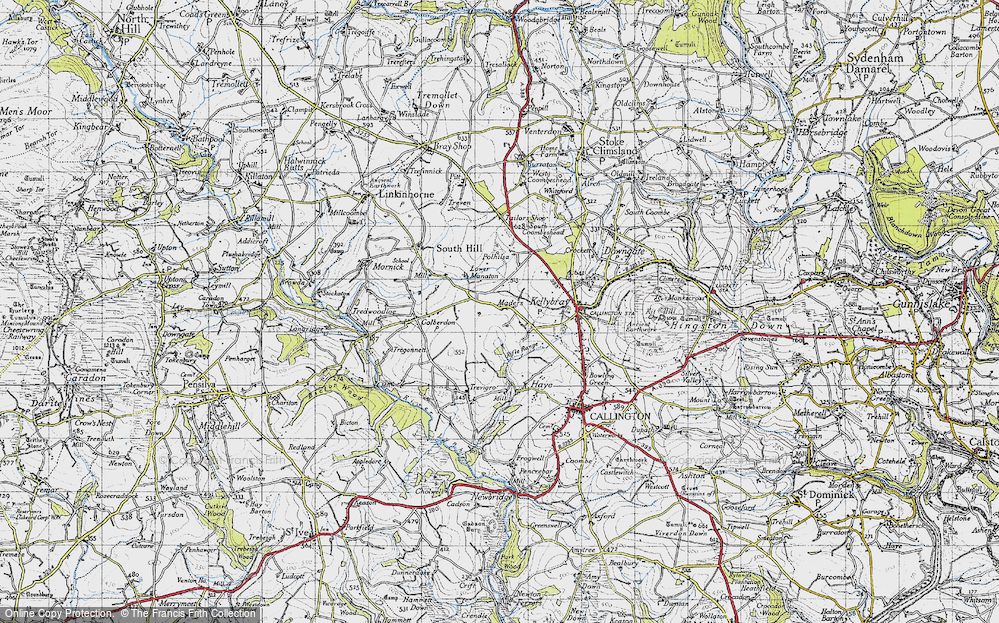 Old Map of Historic Map covering Woodland in 1946